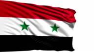 flag of Syria - Syrian Arab Republic (loop) video