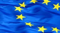 Flag Of The European Union Closeup video