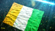Flag of the Ivory Coast at the stadium video