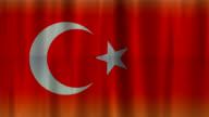 Flag of Turkey background (HD 720) video