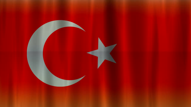 Flag of Turkey background (HD 720) video