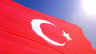 Flag of Turkey video