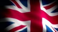 Flag of UK (seamless) video