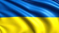 flag of Ukraine (loop) video