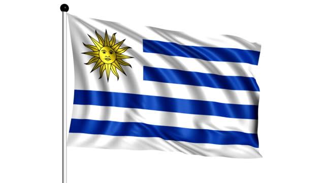 flag of Uruguay - loop (+ alpha channel) video