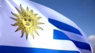 Flag of Uruguay video