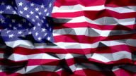 Flag of USA Abstract geometric triangle background. video