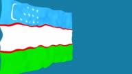 Flag of Uzbekistan. video