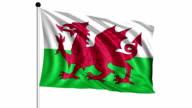 flag of Wales - loop (+ alpha channel) video