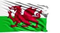 flag of Wales (loop) video