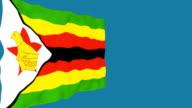 Flag of Zimbabwe. video