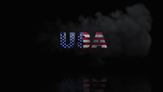 USA Flag On Title is Revealing with Fire video