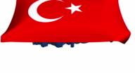 Flag on Turkey Map - HD video