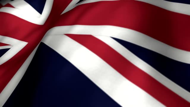 UK Flag Slow Motion - Looping video