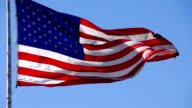 US Flag Slow Motion video