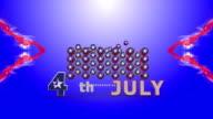 US Flag Stars Animation video