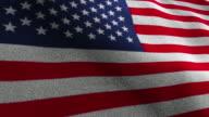 USA Flag, Textile Carpet Background, Loop, 4k video