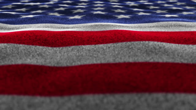 USA Flag, Textile Carpet Background, Loop, 4k video