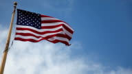 USA Flag To The Left video