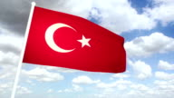 Flag Turkey video