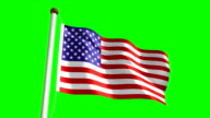 USA flag (with green screen) video