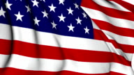 USA flag video