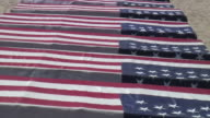 (HD1080) USA Flag: War Military Coffins on Display, Zoom Out video