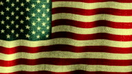 USA Flag Waving (Seamless Looping Video), Bright, Warm, Full Flag. video