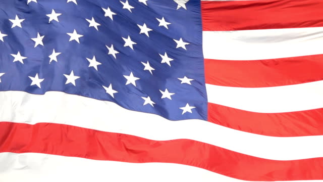 CLOSE UP: USA flag waving in the wind, representing United States of America video