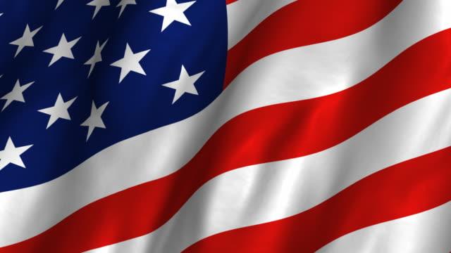USA Flag - waving, looping video