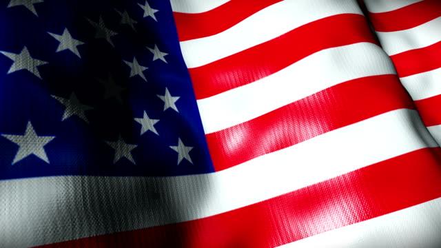 USA Flag waving, looping video