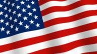 US flag waving video