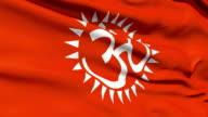 Flag With Hindu Aum video