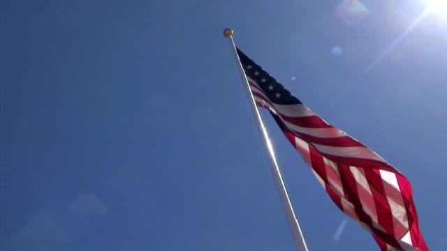 HD-1080-USA Flag with Pole video