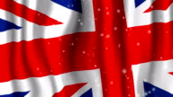 UK Flag with snow video