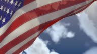 USA Flag with Zooming Sky video