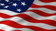 USA Flag2 waving, looping for NTSC see #7957984 video