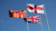 Flags at the English Border video