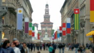 EXPO 2015 flags Milan, Italy video