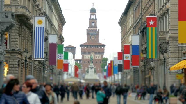 EXPO 2015 flags Milan, Italy video