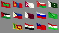 Flags of Asia (Part 3 of 4) video