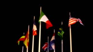 Flags of different nations video