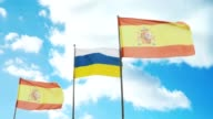 Flags of Spain and the Canary Islands video