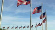 Flags of the United States at Washington Monument video