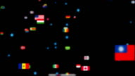 Flags of the World forming Earth Map video
