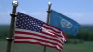 USA UN Flags video
