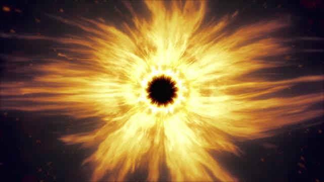 Flame eye. Burning fire. Loop. video
