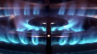 Flames of a gas stove video