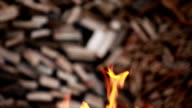 Flames of fire inferno abstract background video