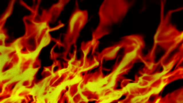 Flames on Textile Background video